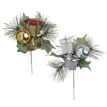 Glitter Christmas Pick 3 X 7 Inches, 2 Assorted Colors - $15.00