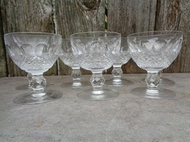 "Waterford Colleen Short Stem Cut Liquor Cocktail Glasses 3 5/8"" 3 oz - $320.00"