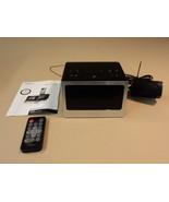 HMDX Audio Flow Docking Sound System Alarm Clock Black HX-B312 - $21.39