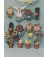 Craft Pattern-Inspired Creations-Face to Face Pins & Plant Pals-Too Cute... - $3.95