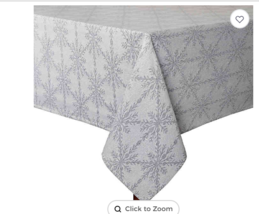 Winter Woven 60-Inch x 120-Inch Oblong Tablecloth in Grey - $29.69