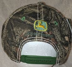John Deere LP64489 Tan And Mossy Oak Camo Adjustable Baseball Cap image 3
