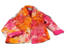 KAREN KANE TYE DYE Jean Jacket Button Down Size L - $12.86