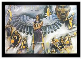 "Kobe Bryant #24  Basketball Lakers 24""x36"" Framed NBA Poster(F2-1001) - $42.08"