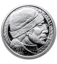 2016 1 oz The Fisherman Silver Round Hobo Nickel Series with COA - $33.65
