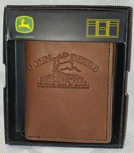 John Deere LP68084 Gem Dandy Accessories Brown Leather Tri Fold Wallet