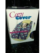 Cozy Cover Infant Car Seat Carrier Cover yellow little trucks and cars c... - $32.79
