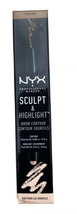 NYX Brow Contour Sculpt and Highlight Duo Brunette Cream New - $8.99