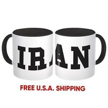 Iran : Mug Flag College Script Calligraphy Country Gift Iranian Expat - $13.76+