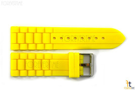 24mm Fits Fossil Yellow Silicon Rubber Watch BAND Strap - $12.89