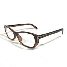 Fendi Brown Tortoise Cats Eye Gold Side Logos Eyeglass Frames F977 238 54 14 135 - $37.40