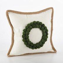 Fennco Styles Ricamato Collection Xmas Tree Throw Pillow- 2 Styles (Wreath) - $49.49