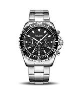Megir Men's Steel Chronograph Wrist Watch 2064 (Silver & Black) - $42.00