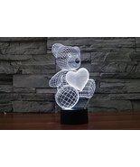 Phantom Lamps Bear w/ Heart 3D LED Illusion Lamp - $29.35