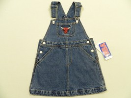 M14 New NBA Chicago Bulls Jeans Overalls Dress Kids Toddler Size 4T - $13.95