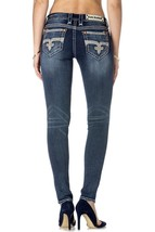New Rock Revival Womens Jeans Jamey S200 Skinny Cut Jean Dark Denim image 2