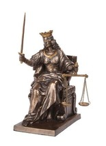 5 Inch Seated Justice with Scales and Sword Legal Statue Figurine - $70.79