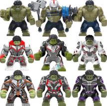 9pcs Gladiator Hulk Quantum Armor Professor Hulk Marvel Endgame Lego Minifigures - $34.99