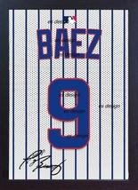 Javier Baez Chicago Cubs Mlb Signed T Shirt Printed On Canvas 100% Cotton Framed - $20.46
