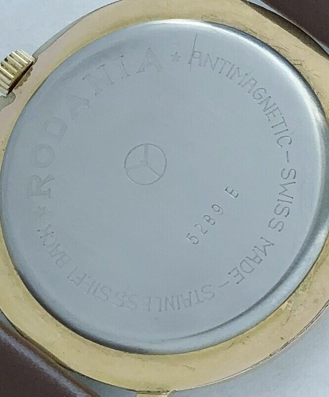 17 Swiss made Rodania Incbloc men's vintage wind up watch. image 3