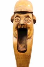 """Vintage Hand Carved Wood Nutcracker 7.5"""" Tall Man Mouth Opens Standing image 7"""