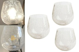 3 Pack Globe Crackle Glass Shade Clear for Light Fixture Pendant Wall - $58.40