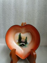 Art Deco HAND PAINTED SWAN LAKE Water Lily under Bridge NORITAKE Heart S... - $19.75