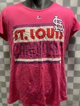 St Louis Cardinals Baseball Mlb Pink Majestic Women's T-Shirt Size M - $11.57