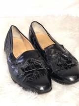 Salvatore Ferragamo Mens Black Wingtip Kiltie Tassle Loafers Size 8 E Dress Shoe - $67.72