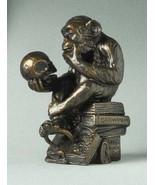 Rheinhold PHILOSOPHIZING MONKEY WITH SKULL MINI STATUE SCULPTURE Pocket Art - $28.13