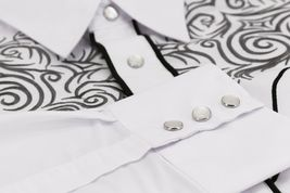 Men's Western Rodeo Style Cowboy Embroidered Tribal Print Dress Shirt image 9