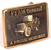 AM General Belt Buckle-Jeep-A Proud Heritage-BTS-Made in USA 1978-Vtg - $23.36