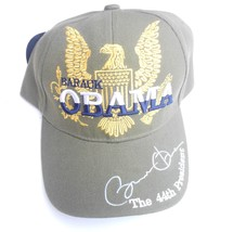 "Obama -  Golden Eagle "" Obama Signature Cap -  Grey - Adjustable - $18.81"