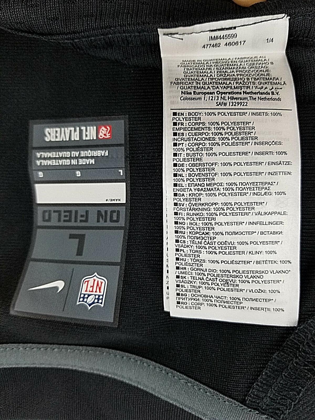 NUOVO Nike Dri Fit Men/'s Blue GOAL Keepers Jersey Taglia Large Nuova con etichetta L @ @ K