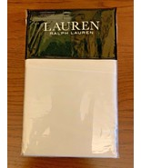 NWT Ralph Lauren Solid White Dunham Sateen King Pillowcase Set Pair 300 ... - $26.09