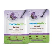 Mamaearth Retinol Bamboo Sheet Mask for Wrinkles/ Finelines-Pack of 2 (2... - $17.79