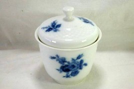 Hutschenreuther Evensong Blue Rose Covered Sugar Bowl - $27.71