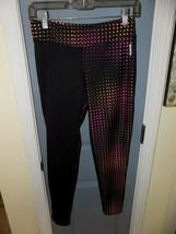 Reebok Black W/ Dots Compression Leggings Size XL (16) Girl's EUC - $21.87