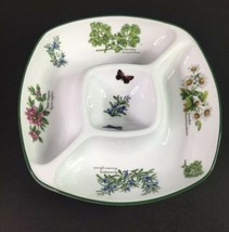 Royal Worcester Herbs Divided Square Snack/Dip Serving Dish Made in Engl... - $27.07