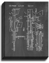 Self-unlocking Device For Recoiling Gun Patent Print Chalkboard on Canvas - $39.95+