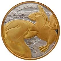 Alaska Mint Official 1995 State Medallion Gold & Silver Medallion Proof ... - $232.64