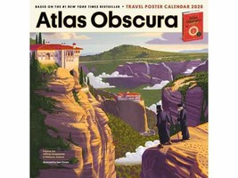 NEW ATLAS OBSCURA 2020 Calendar Year Wanderlust FULL SIZE Workman Publis... - $10.73