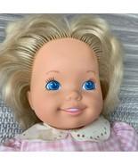 "1991 Tyco Doll Baby Magic Potty Blond Hair Blue Eye 15"" Original Clothes... - $12.00"