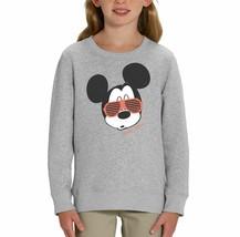 Mickey Mouse Sunglasses Children's Grey Unisex Sweatshirt - $25.07