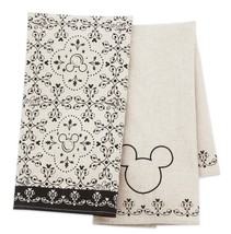 Disney Parks Mickey Icons Kitchen Towel Set of 2 New With Tags - $28.45