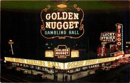 Chrome Postcard NV C156 Golden Nugget Gambling Neon Las Vegas Lucky Strike - $6.00