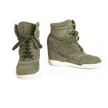Marc Jacobs Gray Suede High Top Wedge Sneakers Trainers Shoes 37 - $127.71