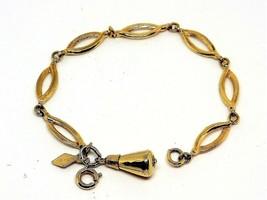 "Sarah Coventry ""DELIGHTFUL"" Gold Tone Charm Bracelet - Sara Cov Jewelry ... - $6.79"