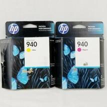 HP OfficeJet 940 Inkjet Printer Cartridges Yellow Magenta Lot of 2 Expired 2014 - $9.99