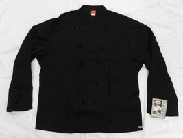 Dickies CW070302 Restaurant Executive Chef Uniform Jacket Coat Black 50 New - $24.47